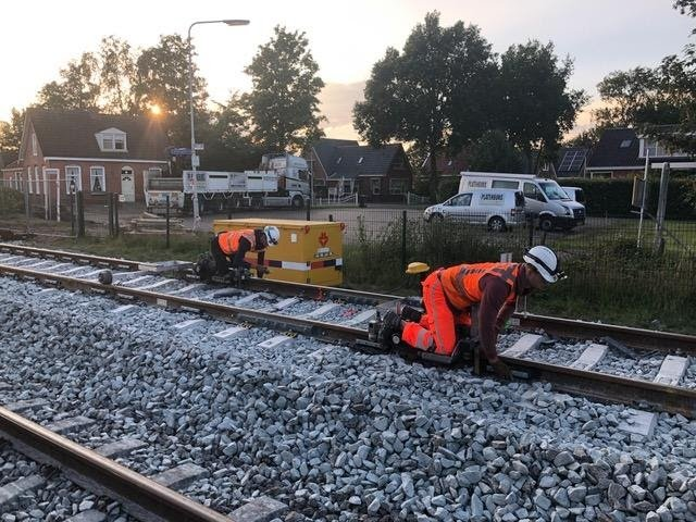 Raildemper project Wadden Route, Strukton Rail